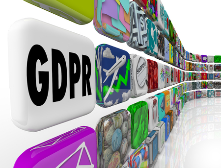 GDPR General Data Protection Regulation Privacy Rule Security 3d Illustration Stock Photo