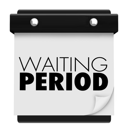 Waiting Period Calendar Pause Delay Time 3d Illustration