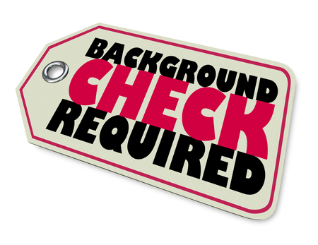 Background Check Required Gun Law Tag Warning 3d Illustration