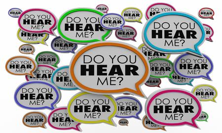 Do You Hear Me Speech Bubbles Listen Understand 3d Illustration