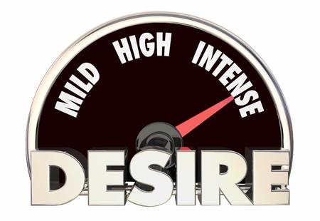 Desire Level Passion Rating Mild High Intense 3d Illustration