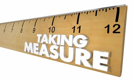 Taking Measure Ruler Results Assessment 3d Illustration