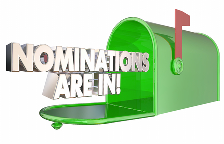 Nominations Are In Finalists Mailbox Award News 3d Illustration