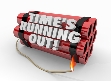 Times Running Out Dynamite Bomb Countdown Explosion 3d Illustration Stock Photo