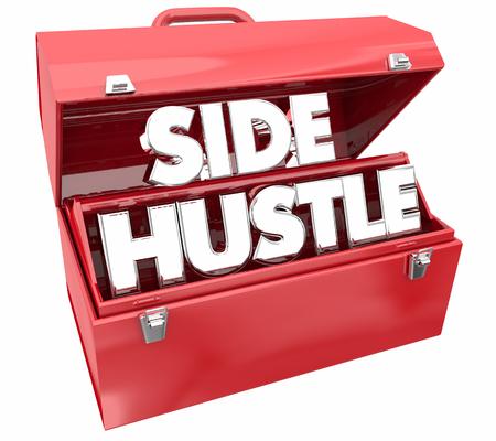 Side Hustle Toolbox Part Time Gig 3d Illustration