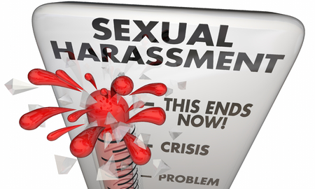 Sexual Harassment Thermometer Crisis Meter 3d Illustration Stok Fotoğraf