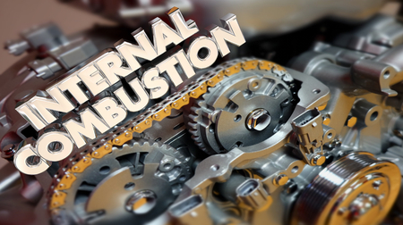 Internal Combustion Engine Motor Power 3d Illustration