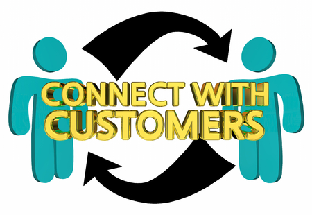 Connect With Customers Sell Prospects Arrows 3d Illustration Stock Photo