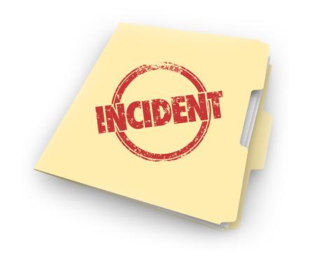 Incident Record Event Evidence Document Folder 3d Illustration Stok Fotoğraf