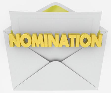 Nomination Envelope Award Finalist Announcement 3d Illustration Stock Photo