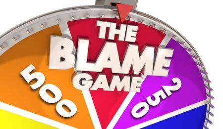 Das Schuld-Spiel lenken die Verantwortung ab, die Illustration 3d anderer tadelt Standard-Bild