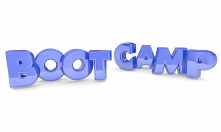 Boot Camp Training Words Letters 3d Illustration