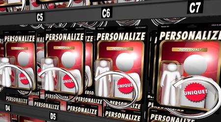 Personnalisez la figurine individuelle personnalisée Soyez une illustration 3d unique Banque d'images - 96654005
