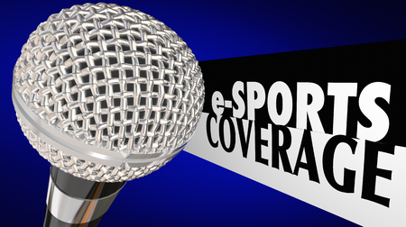 eSports Coverage Live Game Show Microphone 3d Illustration