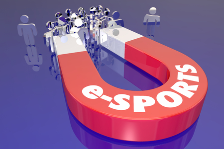 e-Sports Attract Audience Magnet People 3d Illustration