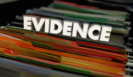 Evidence Proof Records File Folders Documents 3d Illustration
