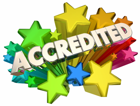 Accredited Evaluated Approved Test Passed Stars 3d Illustration Stock Photo
