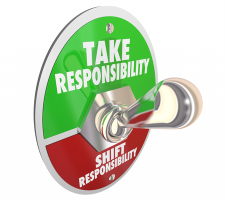 Take Responsibility Shift Accountability Switch Lever 3d Illustration Stock Photo