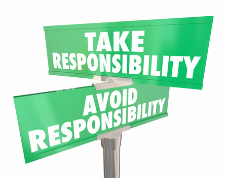 Take Avoid Responsibility Signs Accountability Choice 3d Illustration