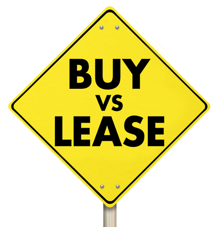 Buy Vs Lease Yield Sign Purchase Options Home Car 3d Illustration