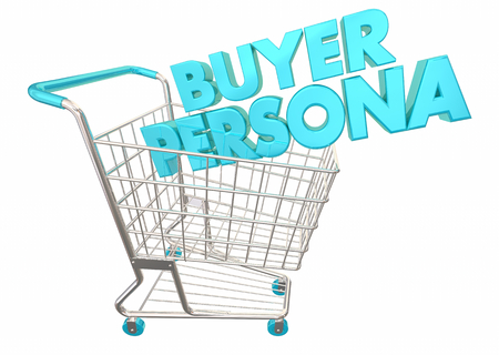 Buyer Persona Shopping Cart Customer Information 3d Illustration 写真素材