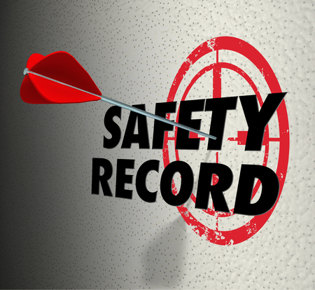 Safety Record Arrow Target Goal Mision 3d Illustration