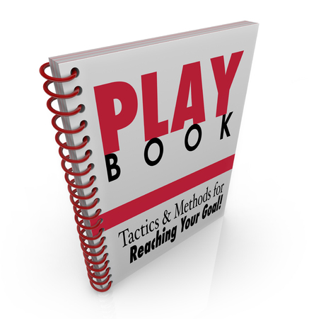 Playbook Tactics Methods for Reaching Your Goal 3d Illustration