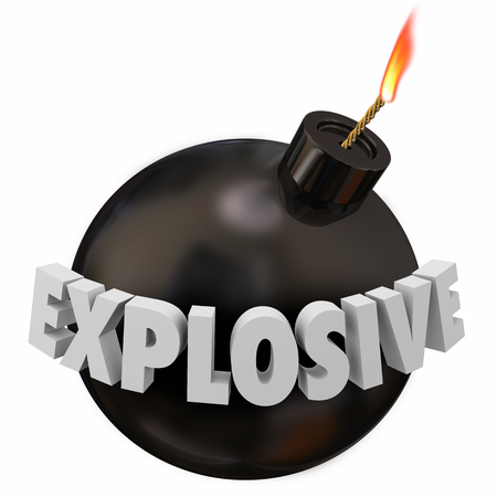 Explosive Bomb Provoke Big Problem Explosion 3d Illustration
