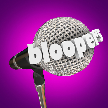 Bloopers Microphone Errors Mistakes Outtakes3d Illustration