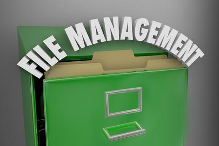 File Management Filing Cabinet Organization 3d Illustration
