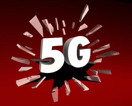 5G Connectivity Network Data Internet Broadband 3d Illustration