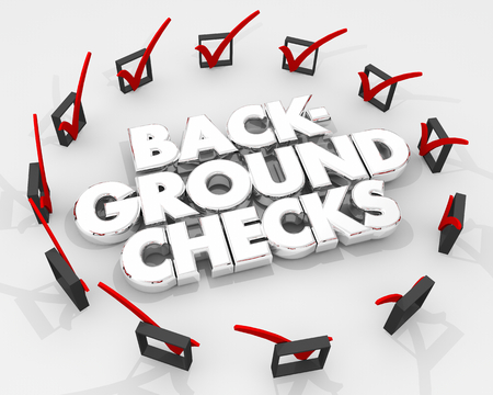 Background Checks Boxes Marks Review Evaluation 3d Illustration Stock Photo
