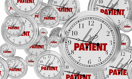 Be Patient Clocks Flying Wait Anticipation 3d Illustration