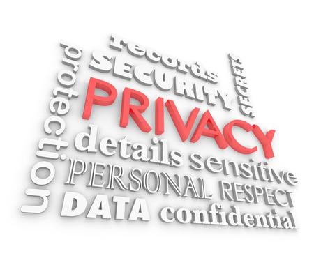 Privacy Security Sensitive Information Secrets 3d Illustration Stok Fotoğraf