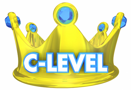 C-Level Crown Top Executives Leaders 3d Illustration 写真素材