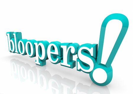 Bloopers Mistakes Outtakes Errors Word 3d Illustration Banco de Imagens - 97161577