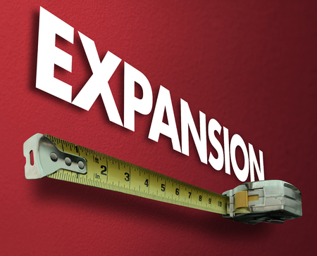 Expansion Measuring Tape Growth Increase Improve 3d Illustration Stock Photo