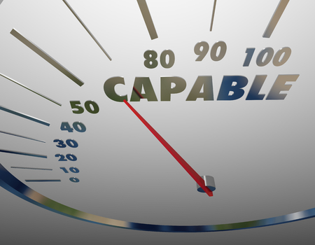 Capable Measurement Result Capability Speedometer 3d Illustration