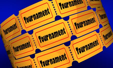 Tournament Big Game Tickets Seats Passes 3d Illustration