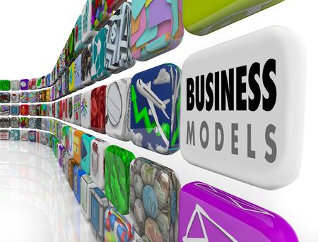Business Models Different Unique Types Companies 3d Illustration