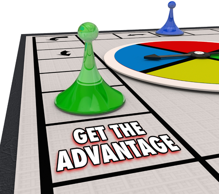 Get the Advantage Win Board Game Upper Hand Edge 3d Illustration