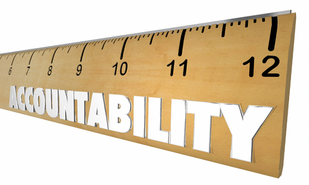 Accountability Responsibility Measure Ruler Word 3d Illustration