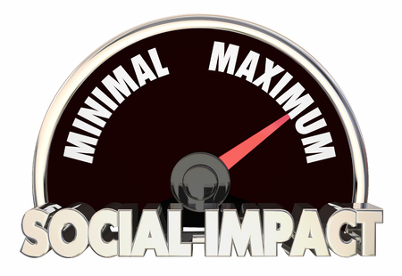 Social Impact Measuring Effect Outcome Results 3d Illustration