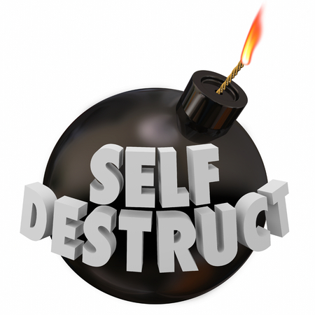 Self-Destruct Bomb Suicidal Behavior 3d Illustration Banco de Imagens - 97403977
