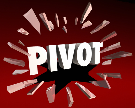 Pivot Change Adapt Business Model Direction 3d Illustration