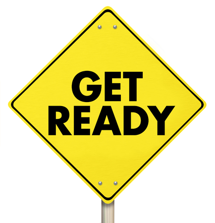 Get Ready Yield Sign Warning Alert 3d Illustration