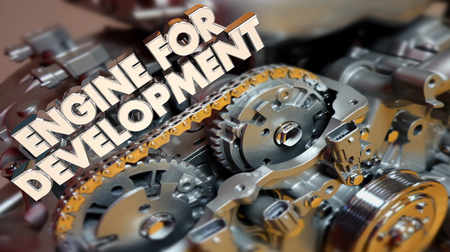 Engine for Development Growth Success 3d Illustration Stock Photo