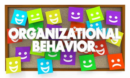 Organizational Behavior Interaction Communication Bulletin Board 3d Illustration