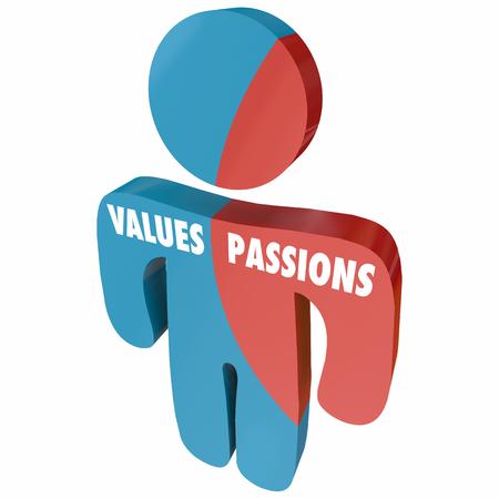 Values Passions Ambition Passionate Person 3d Illustration