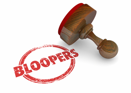 Bloopers Stamped Word Error Wrong Mistake 3d Illustration